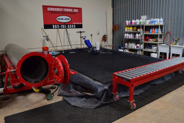 The rug cleaning bay